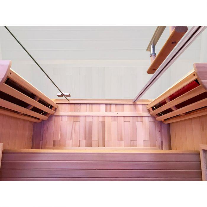 sauna infrarossi dora interno in legno